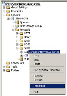 SMTP Virtual Server Properties